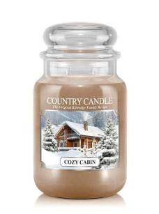 Country Candle - Cozy Cabin - Duży słoik (652g) 2 knoty