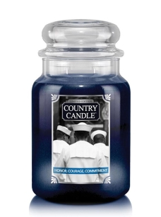 Honor, Courage, Commitment Country Candle - duża świeca - 2 knoty