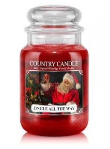 duża świeca zapachowa Country Candle - Jingle All The Way