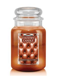 Corinthian Leather Country Candle - duża świeca - 2 knoty