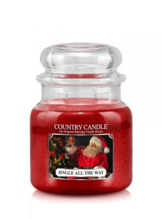 średnia świeca zapachowa Country Candle - Jingle all The Way