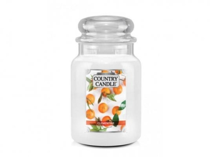 Clementine Country Candle - Duży słoik (652g) 2 knoty