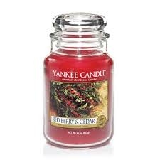 Red Berry & Cedar Yankee Candle - Duża świeca