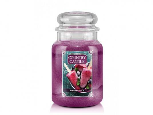 Blueberry Ice Country Candle - Duży słoik (652g) 2 knoty