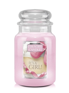 It's a Girl Country Candle - duża świeca - 2 knoty