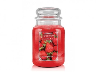 Strawberry Fields Country Candle - Duży słoik (652g) 2 knoty