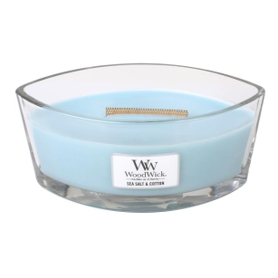 świeca Woodwick Hearthwick - Sea Salt & Cotton