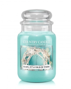 Country Candle - Baby It's Cold Outside - duża świeca zapachowa