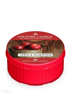 Country Candle - Apple & Teakwood -daylight 35g