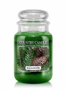 Country Candle - Balsam Fir  - Duży słoik (652g) 2 knoty